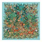Jungle Silk Twill Shawl - Turquoise