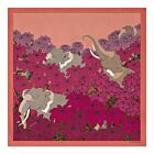 Elephant Silk Twill Scarf - Pink