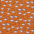 Herd of Elephant Silk Twill Tie - Orange