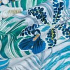 Palm Leaf and Orchid Cotton Pareo - Blue