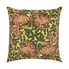 Tiger Silk Cushion Cover - Green/Yellow
