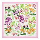 Orchid Mania Silk Twill Shawl - Pink
