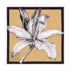 New York Flower Linen Coaster Set - Beige