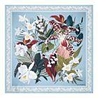 Cattleya Silk Napkin - Light Blue