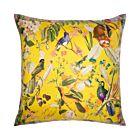 """Songbird Silk Cushion Cover 18"""" - Yellow"""