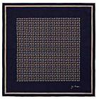Elephant Cotton Handkerchief - Dark Navy/Beige