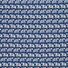Line of Elephants Silk Twill Tie - Blue