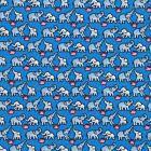 Playful Elephants Silk Twill Tie - Blue