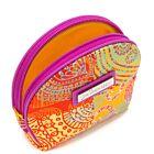 Check Paisley Silk Coin Purse - Orange/Multi