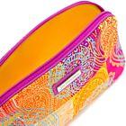Check Paisley Silk Cosmetic Case - Orange/Multi