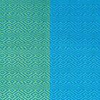 Sabainang Handwoven Silk Scarf - Blue/Green