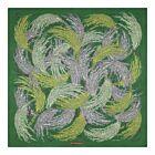 Rice Silk Twill Shawl - Green