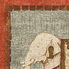 "Traditional Elephant 18"" Linen Cushion Cover - Orange"