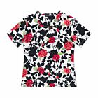 Floral Cotton T-Shirt - Red