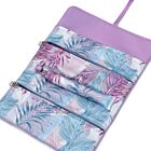 Leave the Leaves Silk Jewelry Roll - Purple