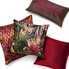 """Pleated Silk Cushion Cover 18"""" - Fucshia"""