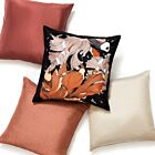 """Double Color Silk Cushion Cover 18"""" - Pearl White"""