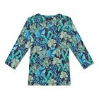 Mahanadhi  Long Sleeve Cotton T-shirt - Blue