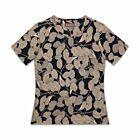 Leaf Cotton T-Shirt - Black / Beige