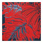 Big Leaves Cotton Napkin - Red