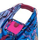 Passion Fruit Large Silk Twill Hobo Bag - Blue