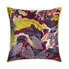 "Suthipa's Jungle Silk Cushion Cover 18"" - Burgundy"