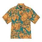 Blooming Cotton Shirt - Blue/Orange