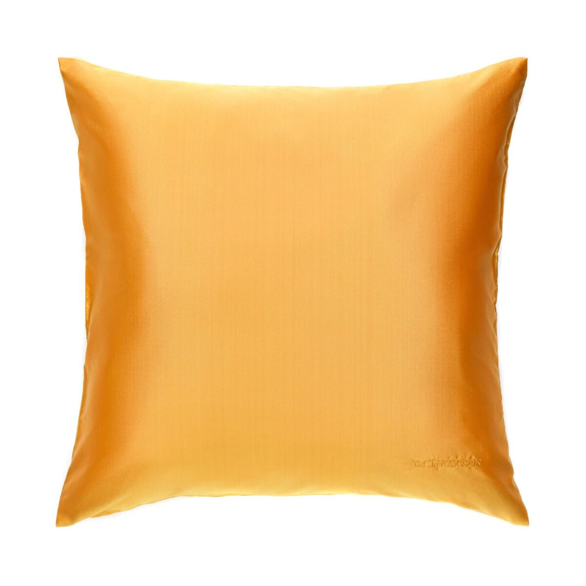 """Double Color Silk Cushion Cover 18"""" - Orange/Yellow"""