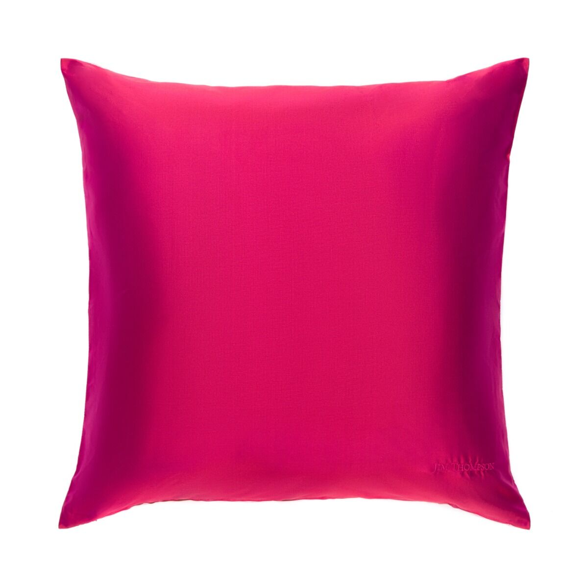 """Double Color Silk Cushion Cover 18"""" - Ruby Pink"""