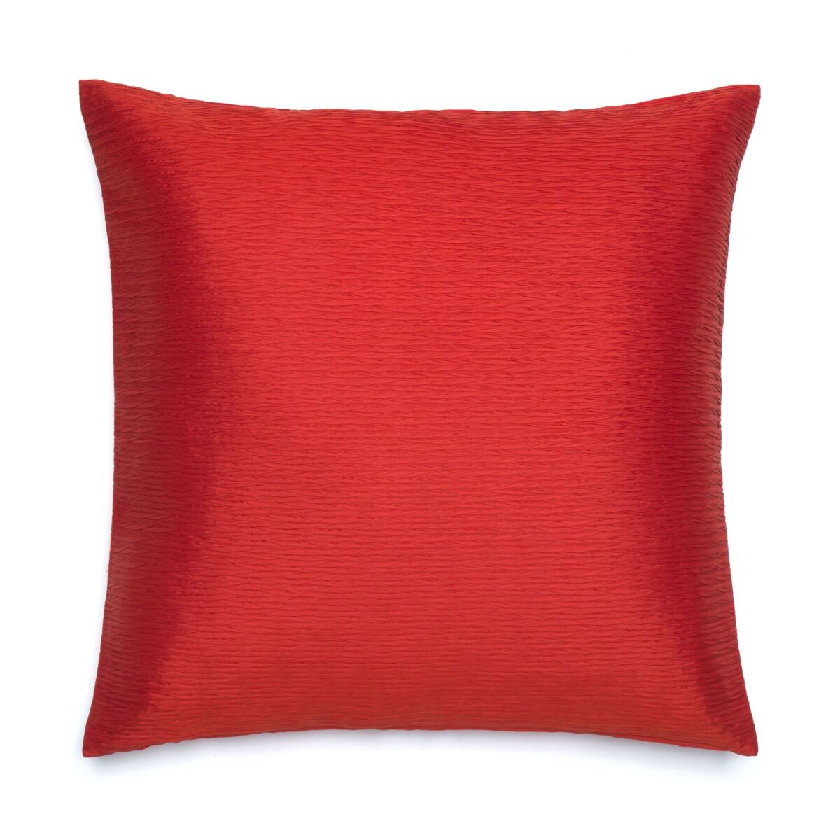 """Pleated Silk Cushion Cover 18"""" - Red"""