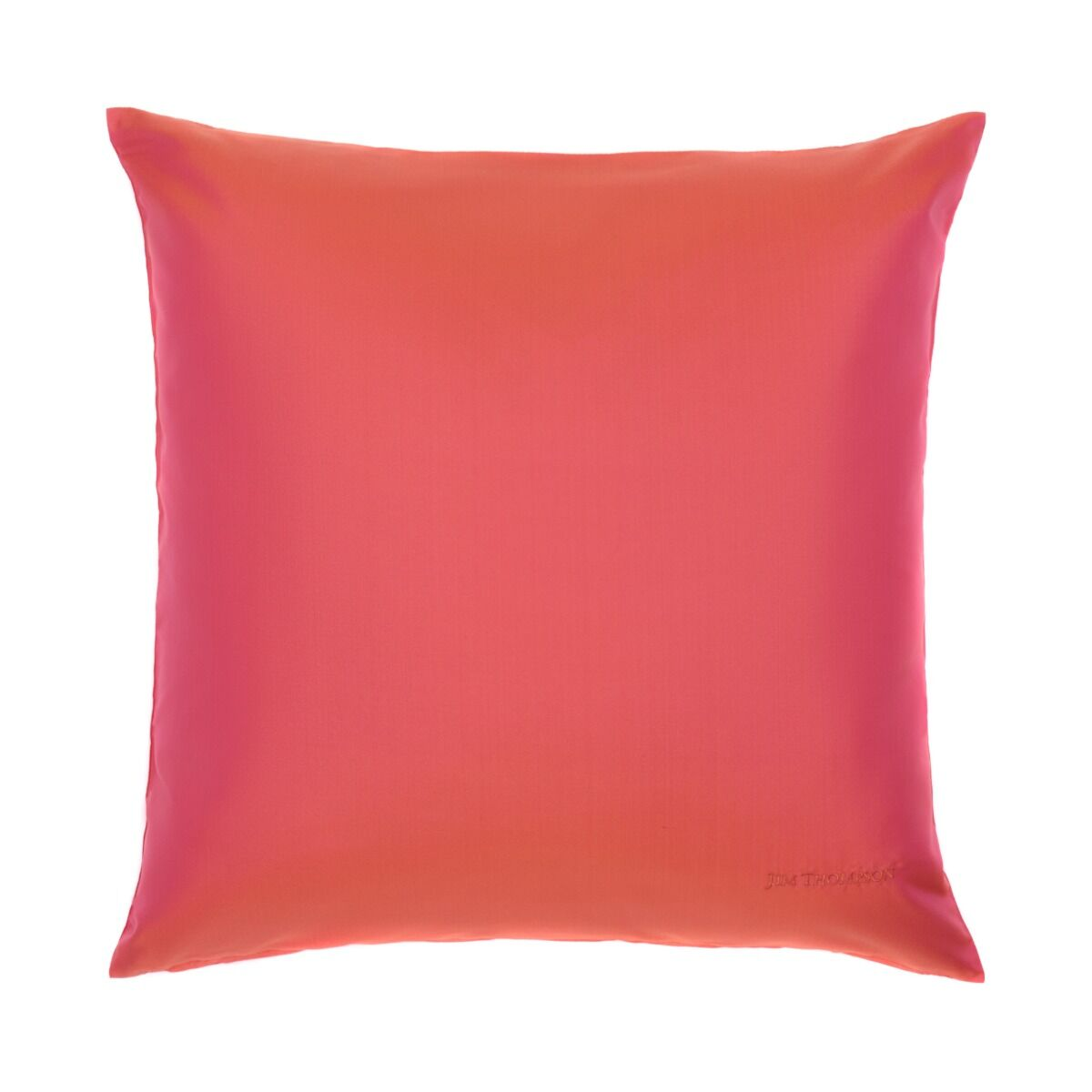"""Double Color Silk Cushion Cover 18"""" - Pink"""