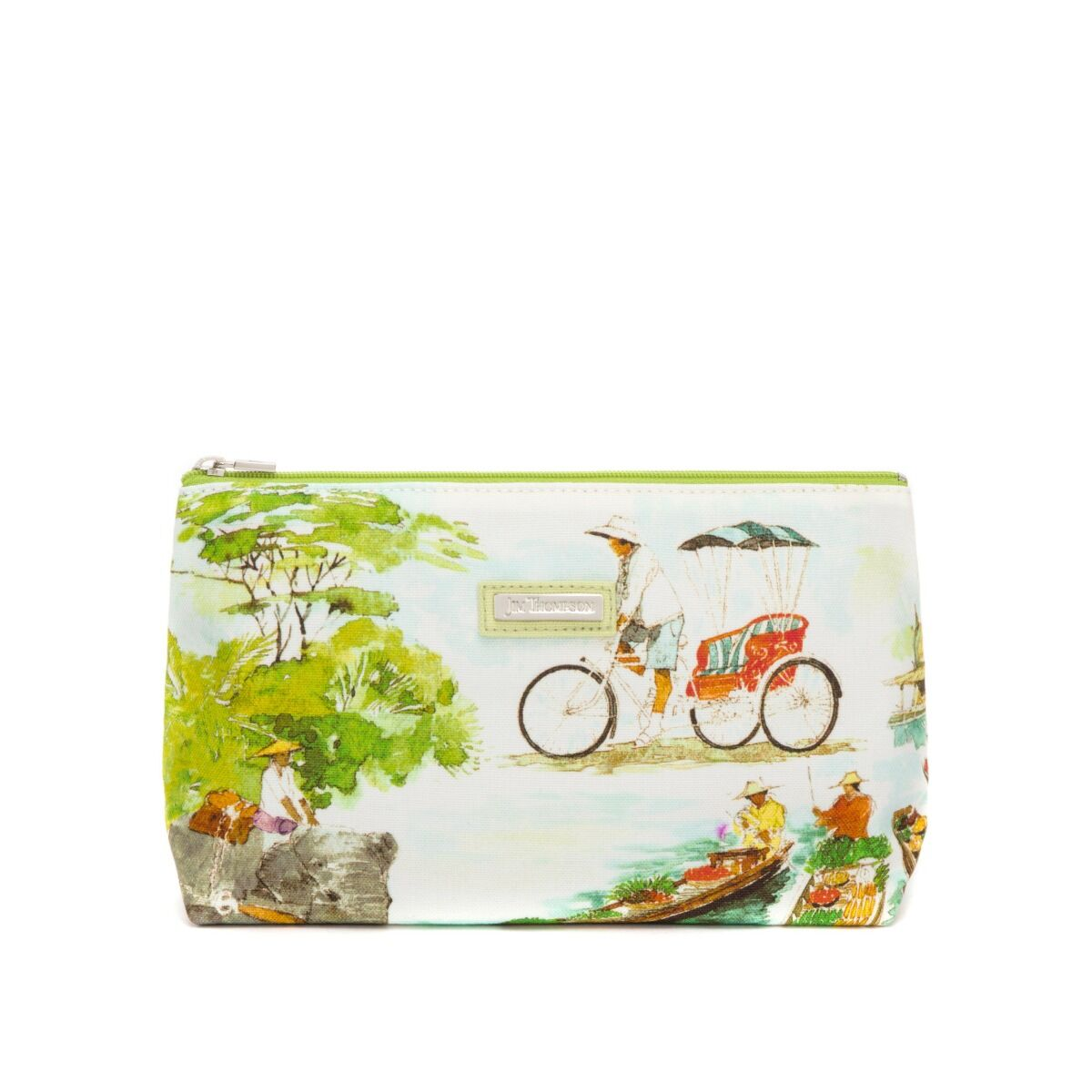 Traditional Thai All Purpose Cosmetic Pouch - White