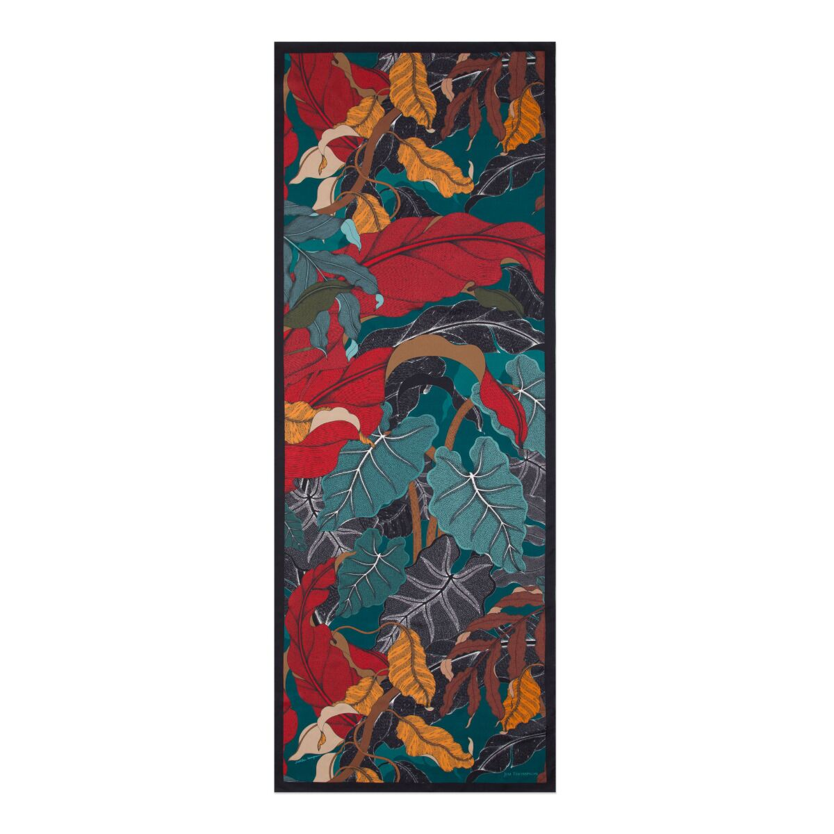 Suthipa's Jungle Silk Twill Stole - Red