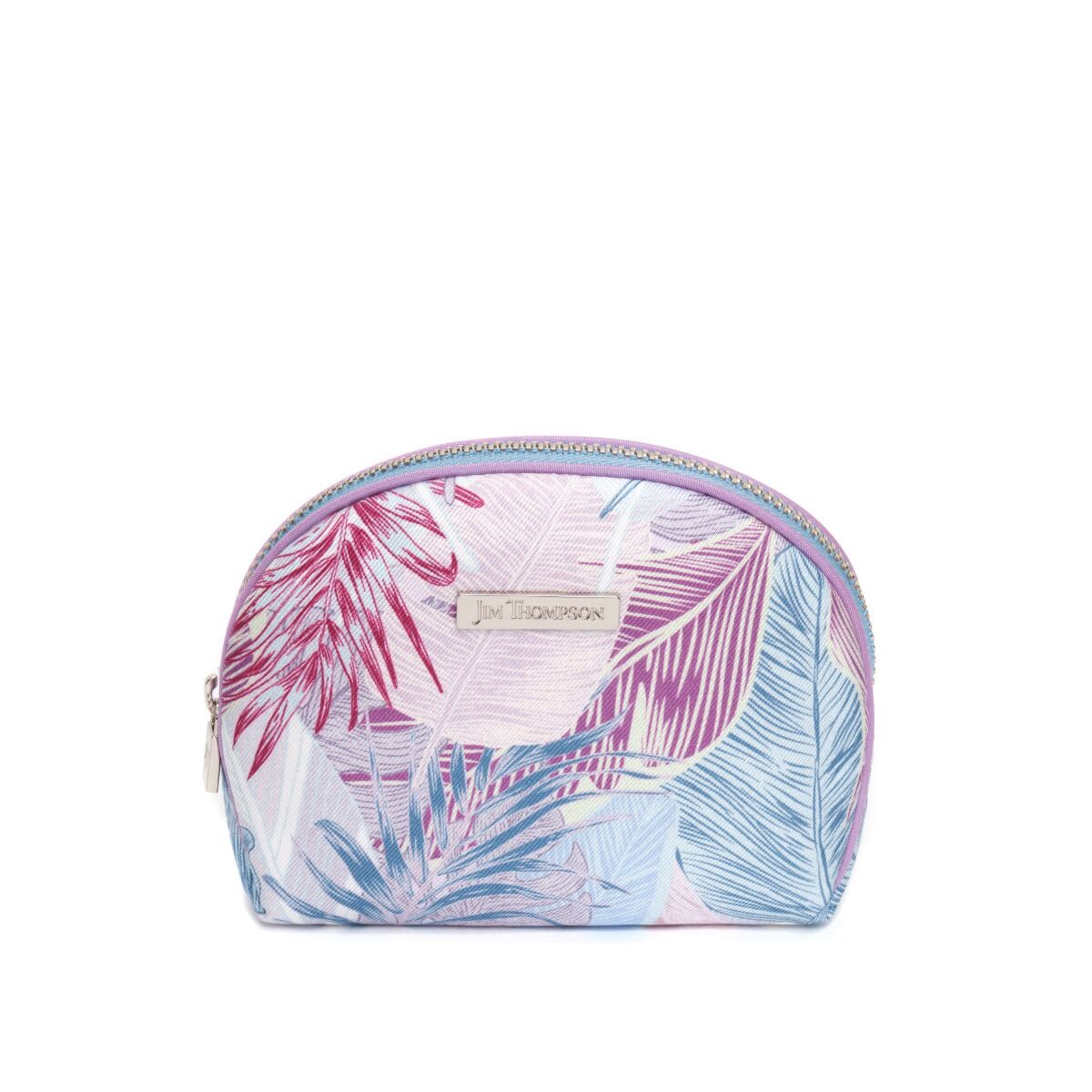 Leave the Leaves Small Silk cosmetic Case - Purple