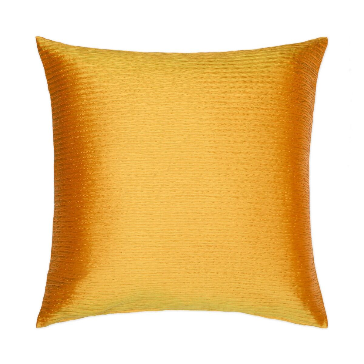 """Pleated Silk Cushion Cover 18"""" - Yellow"""